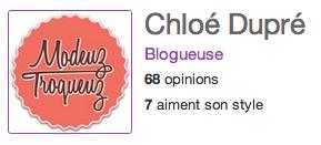 Bravo Chloé Dupré !