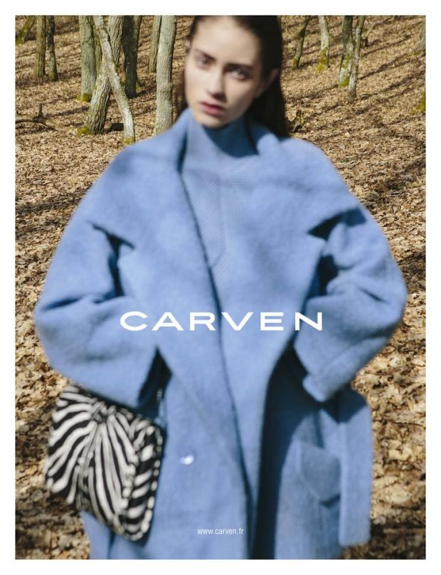 Carven oversize whool blue AW13