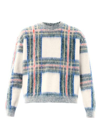 Stella Mc cartney Tartan Mohair sweater AW13