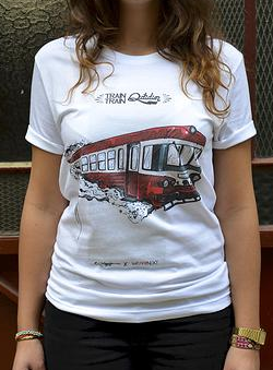 "Tee ""Train-Train quotidien"" by We Art Next"