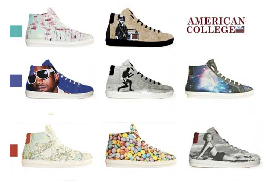 La collection de sneakers d'American College
