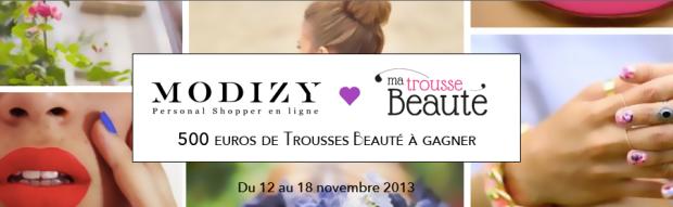 Concours Modizy et Ma Trousse Beauté