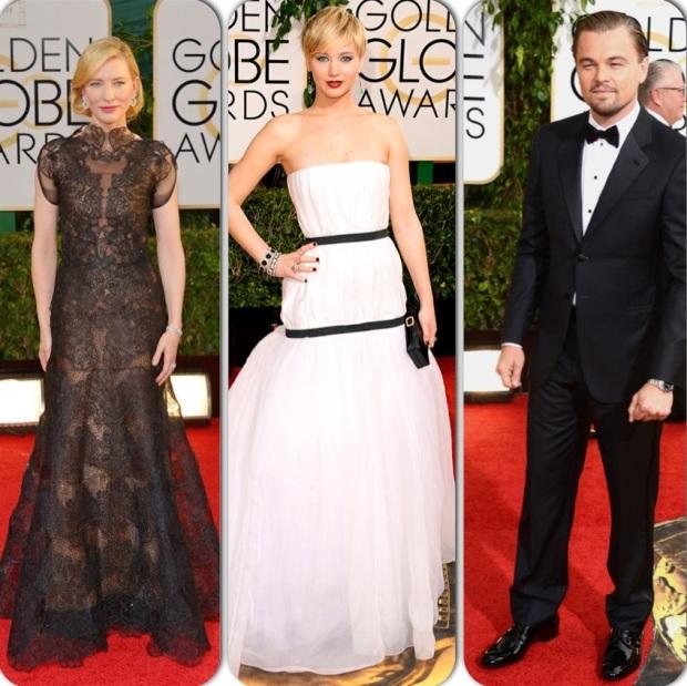 Cate Blanchett, Jennifer Lawrence & Leonardo Dicaprio : Golden Globes 2014