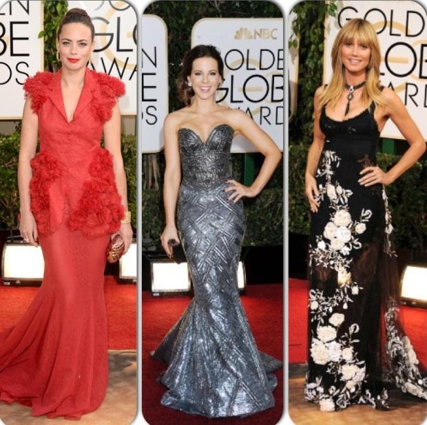 Berenice Bejo, Kate Beckinsale & Heidi Klum : Golden Globes 2014