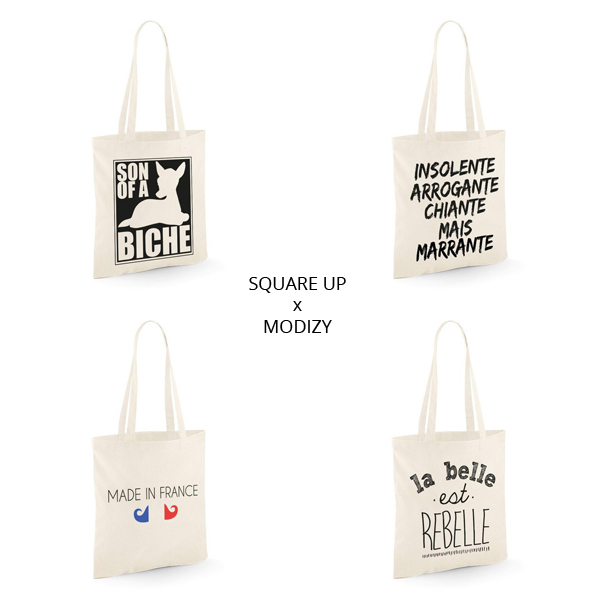 TOTE BAGS SQUARE UP